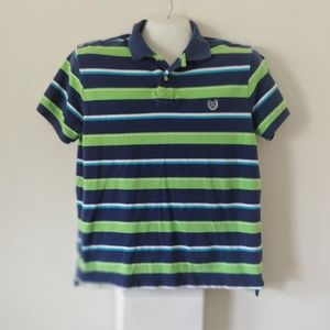 Chaps Polo Shirt Size LG Striped Short Sleeve